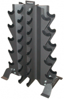 HOIST Home Bench Systems/Freeweight Products 4-Sided Vertical Dumbbell Rack HF-4480