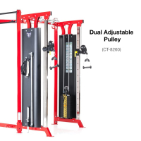 TUFFSTUFF CT Training System Dual Adjustable Pulley w/Multi-grip Chin-up Bar Module CT-8260
